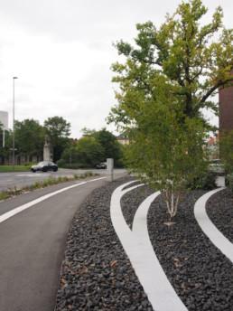 STrauma Landschaftsarchitektur Berlin landscape architects Fraunhofer Technikum III, Würzburg Wege