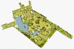 STrauma Landschaftsarchitektur Berlin landscape architects Höchster Stadtpark Frankfurt am Main Lageplan