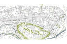 STrauma Landschaftsarchitektur Berlin landscape architects Innenstadt Freising Lageplan