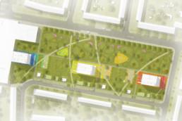 STrauma Landschaftsarchitektur Berlin landscape architects Hennigsdorf Farbquartier Lageplan