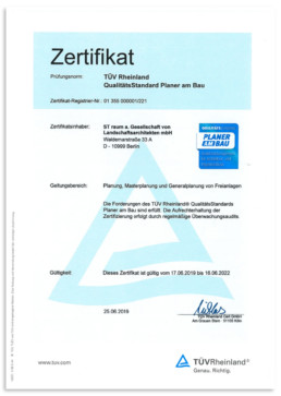 STrauma Landschaftsarchitektur Berlin landscape architects QM Zertifikat