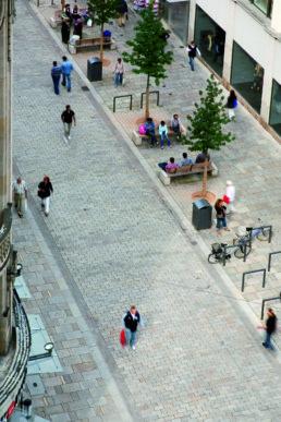 STrauma Landschaftsarchitektur Berlin landscape architects Fußgängerzone Wiesbaden von oben