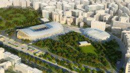 STrauma Landschaftsarchitektur Berlin landscape architects Dynamo Stadion Moskau Vogelperspektive
