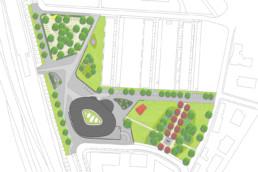 STrauma Landschaftsarchitektur Berlin landscape architects Rathausplatz Hennigsdorf Lageplan