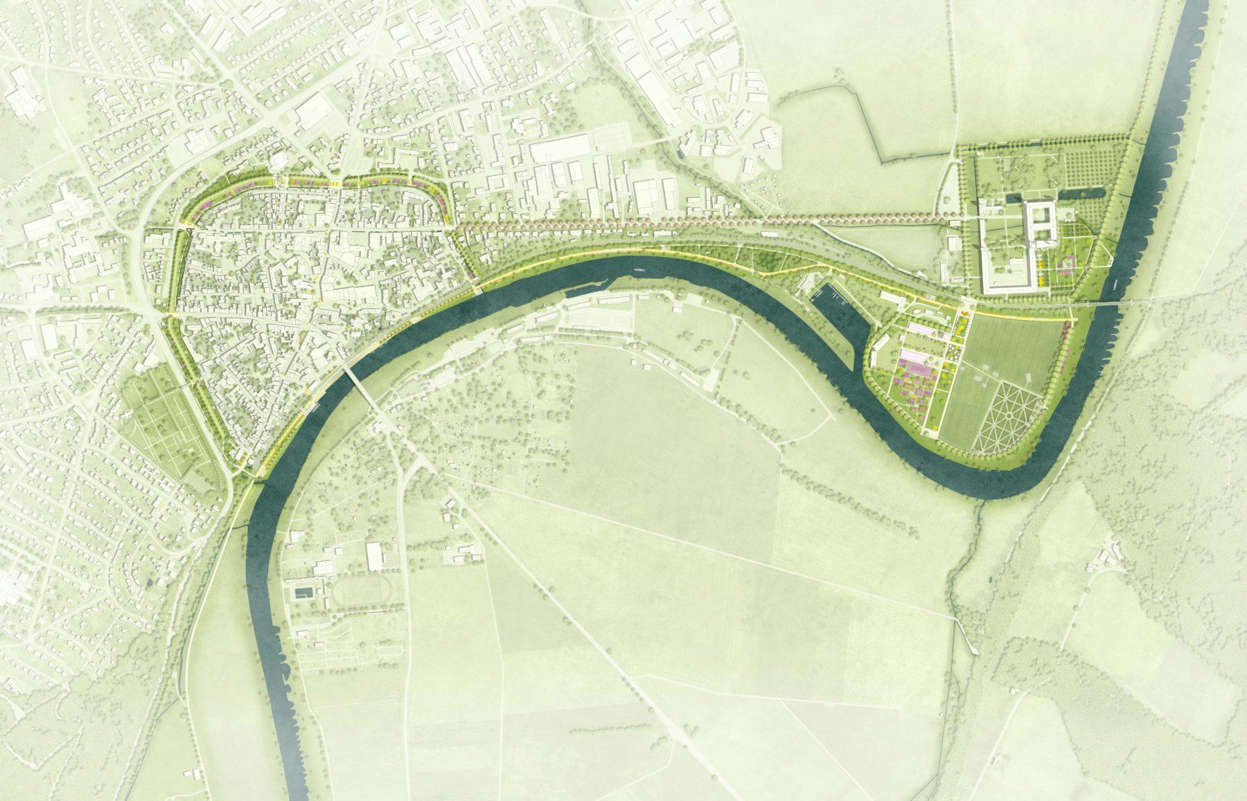 STrauma Landschaftsarchitektur Berlin landscape architects Landesgartenschau Höxter 2023 Lageplan