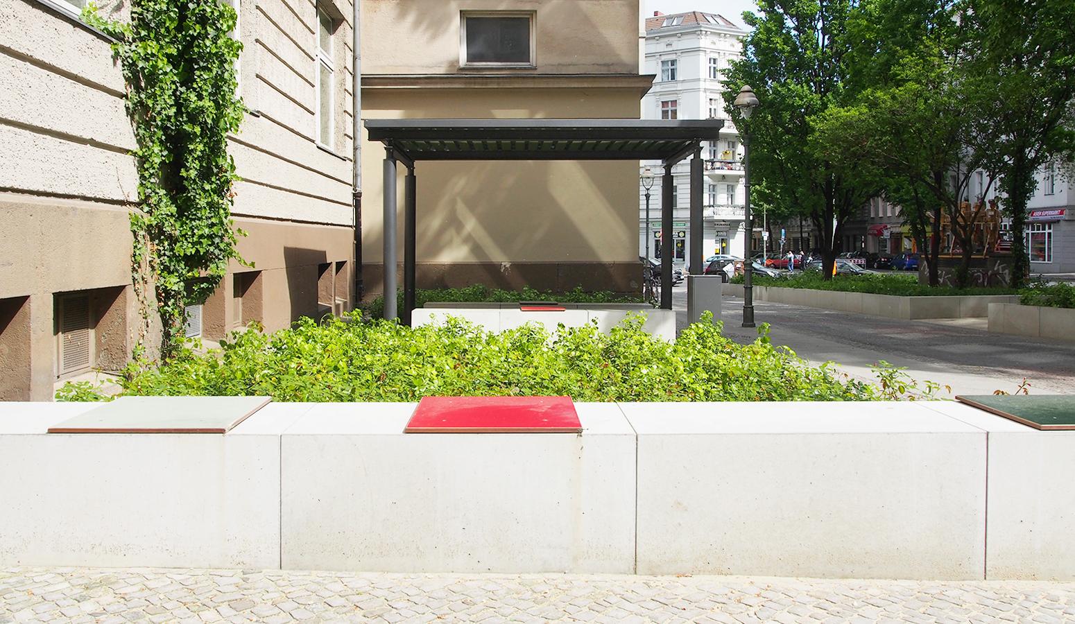 STrauma Landschaftsarchitektur Berlin landscape architects Albert Schweitzer Schule Berlin Sitzelemente