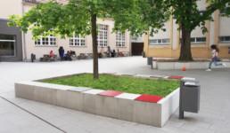 STrauma Landschaftsarchitektur Berlin landscape architects Albert Schweitzer Schule Berlin Bänke und Bäume