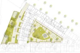 STrauma Landschaftsarchitektur Berlin landscape architects Beuthstrasse Berlin Lageplan