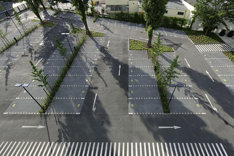 STrauma Landschaftsarchitektur Berlin landscape architects Bayer Pharma moderne Parkplätze