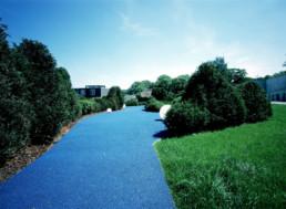 STrauma Landschaftsarchitektur Berlin landscape architects Sparkassenakademie und Seminarhotel Lichtenwalde Wege Blau