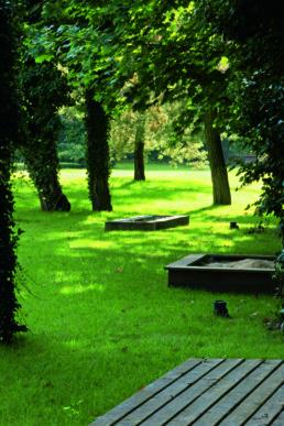 STrauma Landschaftsarchitektur Berlin landscape architects Brahmsstrasse Berlin Park mit Sandkasten