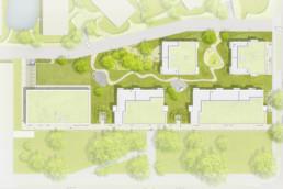 STrauma Landschaftsarchitektur Berlin landscape architects Fünf Morgen Mischgebiet Berlin Dahlem Plan Zeichnung