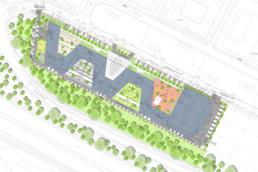 STrauma Landschaftsarchitektur Berlin landscape architects E Plus Düsseldorf Lageplan
