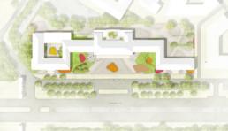 STrauma Landschaftsarchitektur Berlin landscape architects Ernst Reuter Haus Entwurf Plan Zeichnung