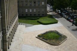 STrauma Landschaftsarchitektur Berlin landscape architects Ernst Reuter Haus Bodenbelag