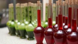 STrauma Landschaftsarchitektur Berlin Grün Rot Flaschen Pesto