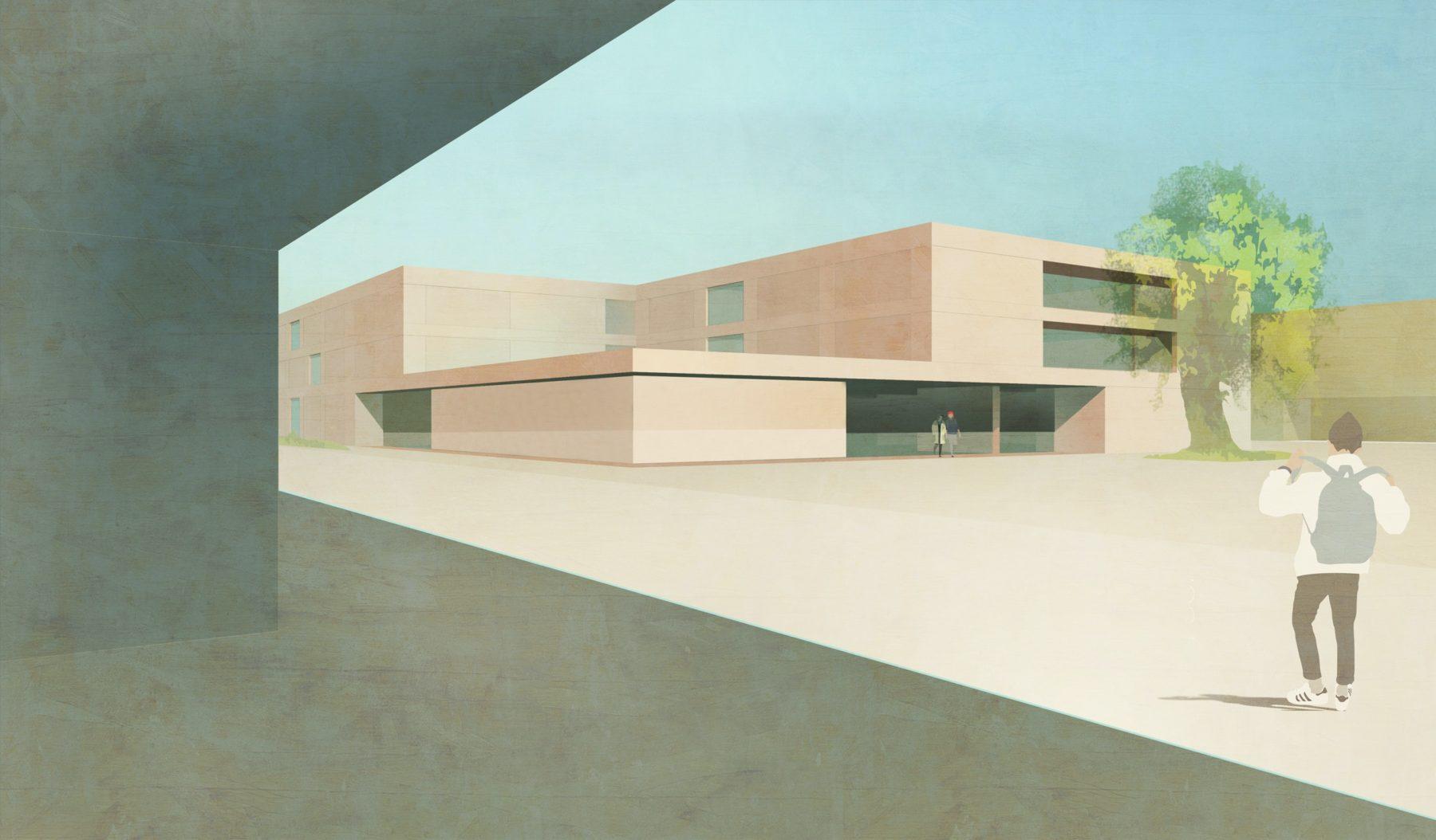 STrauma Landschaftsarchitektur Berlin landscape architects Bildungscampus Gruscheweg Neuenhagen bei Berlin Perspektive 3