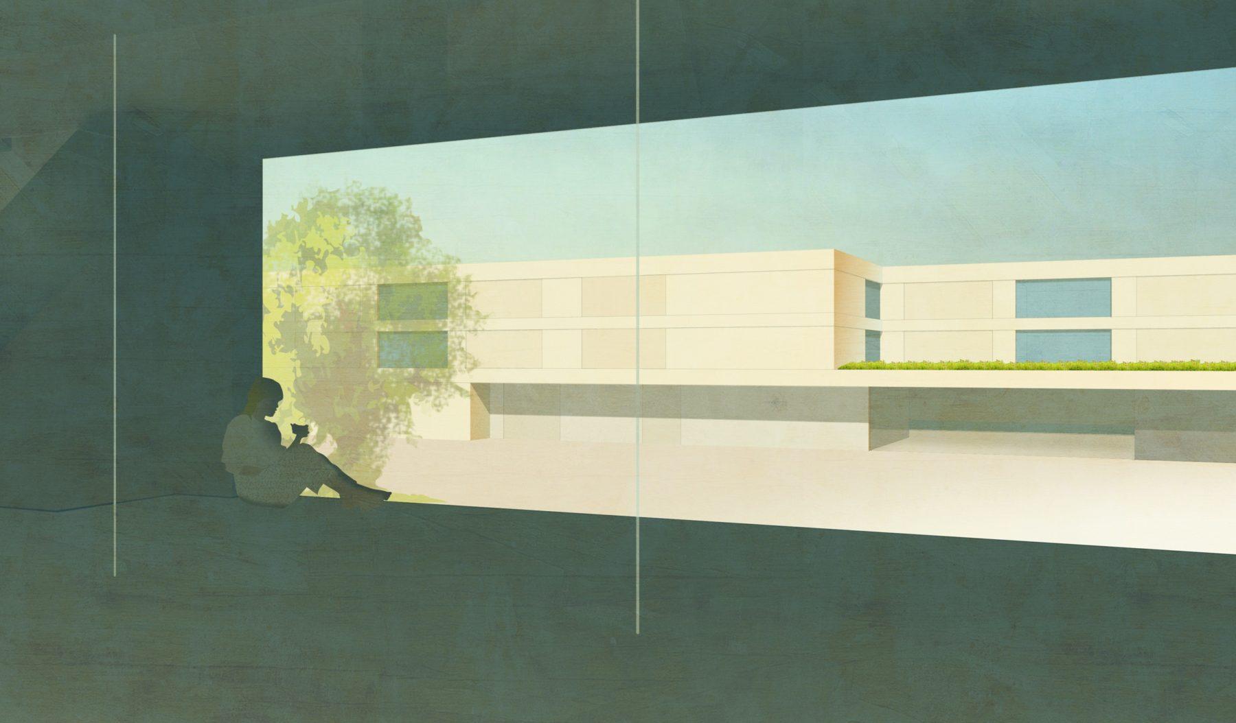 STrauma Landschaftsarchitektur Berlin landscape architects Bildungscampus Gruscheweg Neuenhagen bei Berlin Perspektive 2