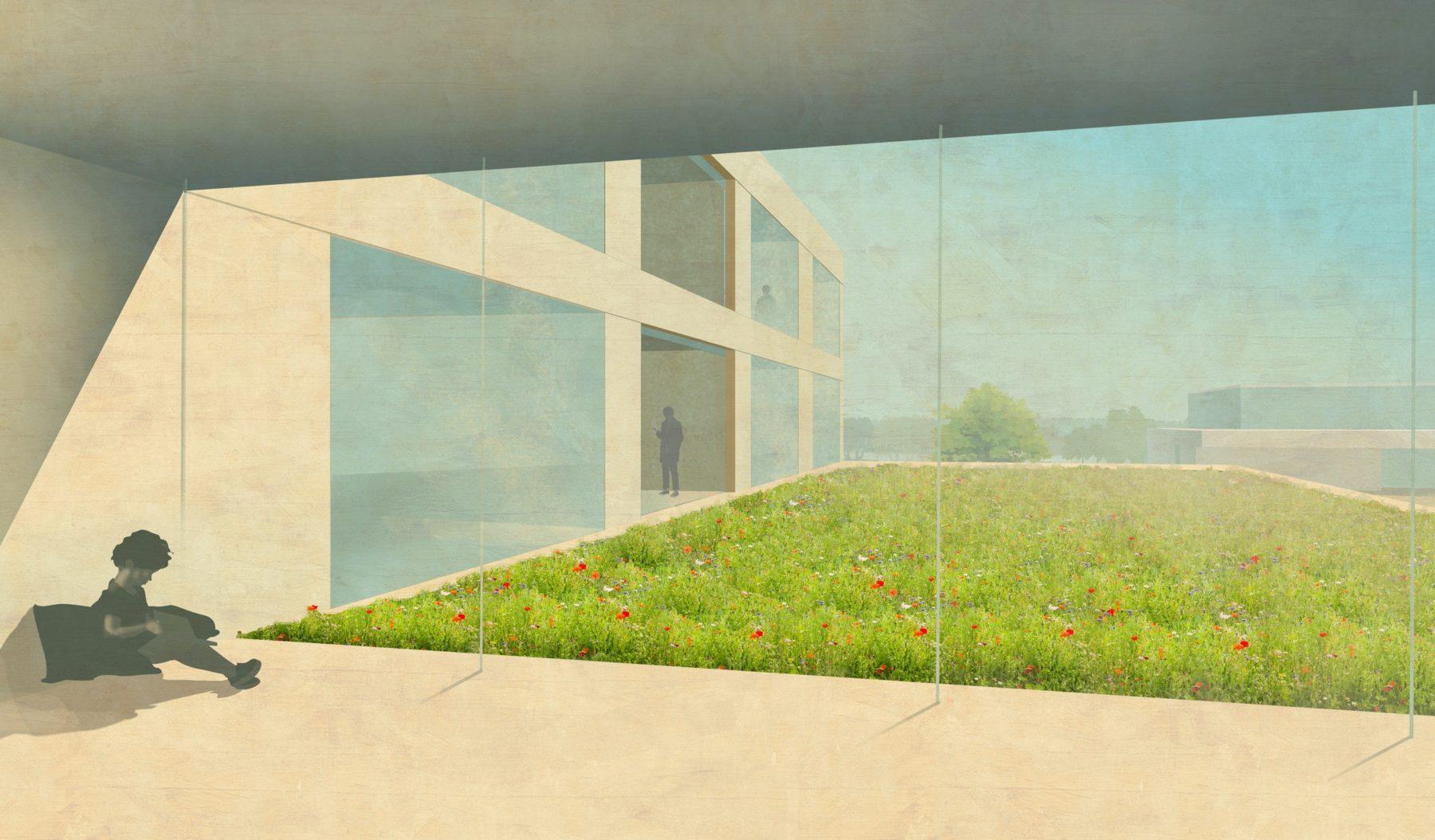 STrauma Landschaftsarchitektur Berlin landscape architects Bildungscampus Gruscheweg Neuenhagen bei Berlin Perspektive