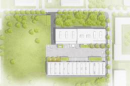 STrauma Landschaftsarchitektur Berlin landscape architects Jutier und Tonnenhalle München Kreativquartier Lageplan