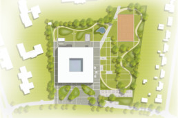 STrauma Landschaftsarchitektur Berlin landscape architects Lise Meitner Schule Berlin Lageplan
