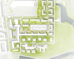 STrauma Landschaftsarchitektur Berlin landscape architects carossa quartier spandau Lageplan