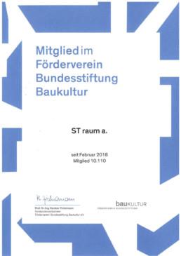 zertifikat Förderverein Bundesstiftung Baukultur