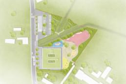 STrauma Landschaftsarchitektur Berlin landscape architects Spielplatz Schule Döbern Lageplan