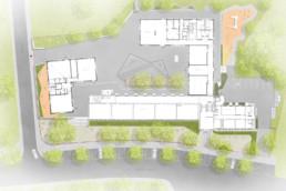 Andres Grundschule Essen SEHW Architektur st raum a landschaftsarchitektur Lageplan