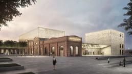 Kulturraffinerie Monheim Konzerthaus Bez Kock Architektur st raum a landschaftsarchitektur Perspektive
