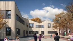 Andres Grundschule Essen SEHW Architektur st raum a landschaftsarchitektur Perspektive