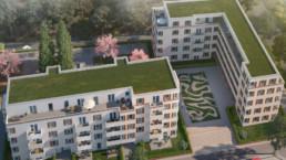Dolomitestrasse wohnquartier Berlin st raum a landschaftsarchitektur Perspektive