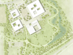 Wettbewerb Hammelburg schulzentrum campus st raum a landschaftsarchitektur berlin gewinner Lageplan