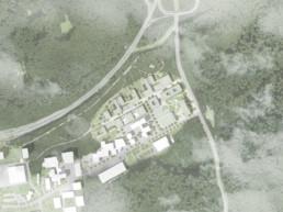wettbewerb helmholtz campus cispa saarbrücken Lageplan raumwerk st raum a landschaftsarchitektur