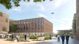 wettbewerb helmholtz campus cispa saarbrücken perspektive raumwerk rendertaxi st raum a landschaftsarchitektur